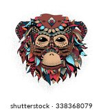 illustration of a monkey  a... | Shutterstock . vector #338368079