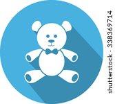 teddy bear flat icon design. | Shutterstock .eps vector #338369714