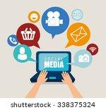 social media design with...   Shutterstock .eps vector #338375324
