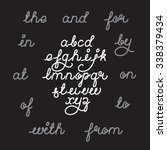 handwritten alphabet vector... | Shutterstock .eps vector #338379434