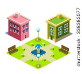 house and park building icon... | Shutterstock .eps vector #338382077