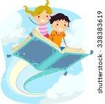 stickman illustration of kids...   Shutterstock .eps vector #338383619
