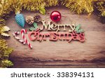 christmas background   tone... | Shutterstock . vector #338394131