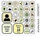 vector icons set for blogging...   Shutterstock .eps vector #338395877