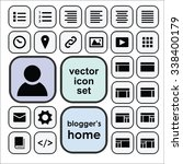 vector icons set for user...