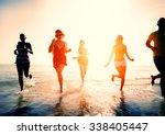 friendship freedom beach summer ... | Shutterstock . vector #338405447