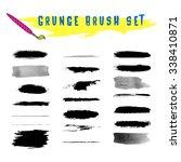 set of grunge vector brush... | Shutterstock .eps vector #338410871