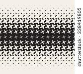 vector seamless black and white ... | Shutterstock .eps vector #338419805