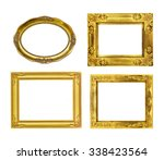 the antique gold frame on the... | Shutterstock . vector #338423564