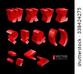 red shiny 3d solid bold font w... | Shutterstock .eps vector #338424275