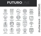 modern thin line icons set of... | Shutterstock .eps vector #338430161