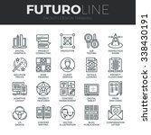 modern thin line icons set of... | Shutterstock .eps vector #338430191