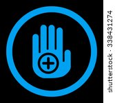 hand medical marker vector icon.... | Shutterstock .eps vector #338431274