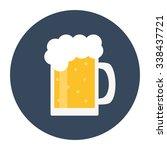mug of beer. light beer with... | Shutterstock . vector #338437721