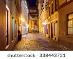 old medieval street in the... | Shutterstock . vector #338443721