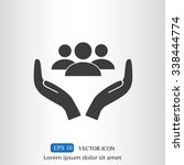 business man icon.   team work | Shutterstock .eps vector #338444774