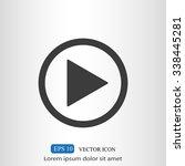 play button web icon   Shutterstock .eps vector #338445281