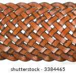 close up of a leather sennit | Shutterstock . vector #3384465