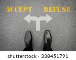 black shoes has decision to...   Shutterstock . vector #338451791