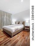 wooden floor in bedroom   Shutterstock . vector #33845488