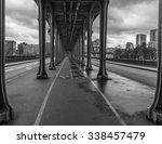 the bir hakeim bridge in paris...   Shutterstock . vector #338457479