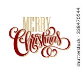 Merry Christmas Lettering...