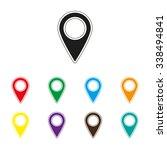 map pointer   color vector icon   Shutterstock .eps vector #338494841