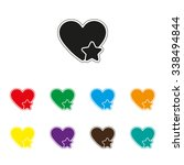 add to favorites   heart with... | Shutterstock .eps vector #338494844