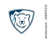 polar bears shield | Shutterstock .eps vector #338495231