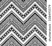 black and white zigzag tribal... | Shutterstock .eps vector #338495579