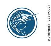 marlin fish circle | Shutterstock .eps vector #338497727