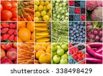 produce collage of popular... | Shutterstock . vector #338498429
