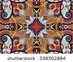 ethnic horizontal  authentic... | Shutterstock .eps vector #338502884