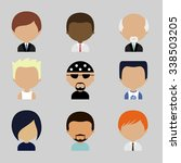colorful avatars icons set in... | Shutterstock . vector #338503205