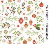 seamless christmas pattern  | Shutterstock .eps vector #338515757
