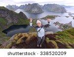 Female Tourist Visits Lofoten...