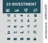 investment  icons  signs vector ... | Shutterstock .eps vector #338541059