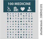 medical and health care  icons  ...   Shutterstock .eps vector #338541131