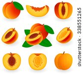 icon set peach | Shutterstock .eps vector #338551265