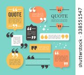 modern block quote and pull... | Shutterstock .eps vector #338551547