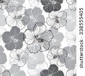 monochrome  seamless pattern...   Shutterstock .eps vector #338555405