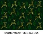 pattern with deer    Shutterstock .eps vector #338561255