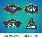 sale banner set. vector... | Shutterstock .eps vector #338561345