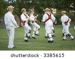 traditional morris dancing - stock photo