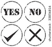 grunge rubber stamp icon set  ... | Shutterstock . vector #33856816