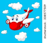 cartoon plane character | Shutterstock . vector #338577509
