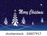 a winter christmas scene. can... | Shutterstock . vector #33857917