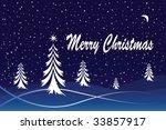 a winter christmas scene. can... | Shutterstock . vector #33857917