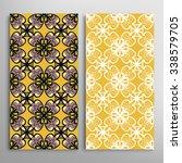 vertical seamless floral... | Shutterstock .eps vector #338579705