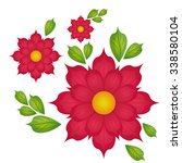 grarden concept about flowers... | Shutterstock .eps vector #338580104